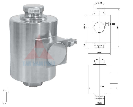 Loadcell can o to 20 - 50 tan